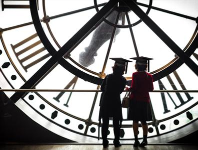 grads & clock